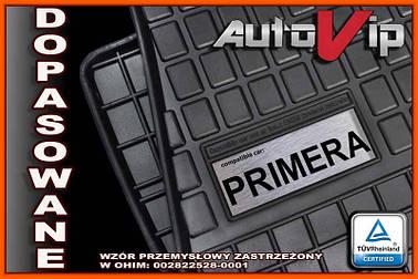 Резиновые коврики NISSAN PRIMERA P12 2001-  с логотипом