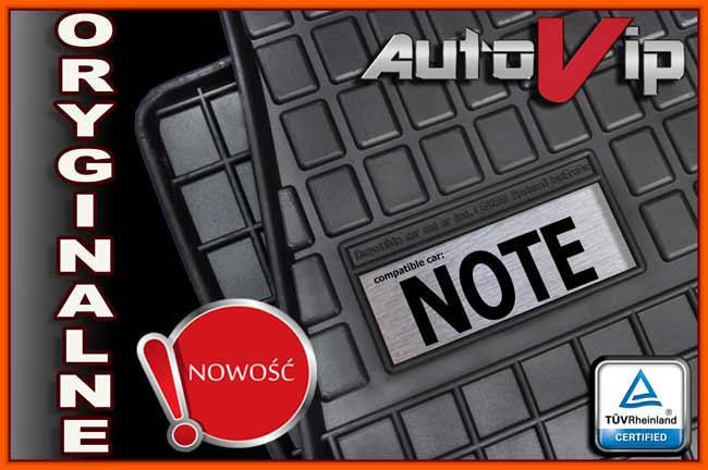 Гумові килимки NISSAN NOTE E11 2006 - з логотипом