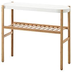 IKEA SATSUMAS (902.581.56) Подставка для цветов, бамбук, белый