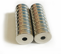 Магнит неодимовый. Кольцо 12x3,8 мм с отверстием 3 мм