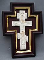 Киот для креста или распятия с золоченной рамой., фото 2