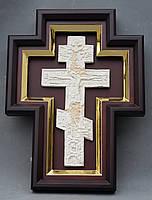 Киот для креста или распятия с золоченной рамой., фото 4