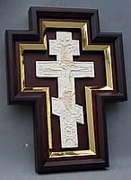 Киот для креста или распятия с золоченной рамой., фото 6
