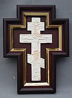 Киот для креста или распятия с золоченной рамой., фото 5