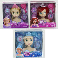 """Кукла-Манекен для создания причесок """"Princess sweet"""" 4 вида с аксессуарами корона расческа в коробке"""