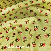 41006 Оливовый цвет. Хлопковая ткань для декорирования, шитья и рукоделия. Квилтинг, пэчворк.