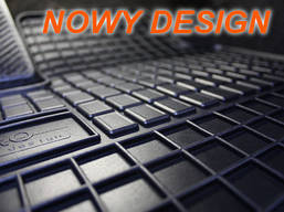 Резиновые коврики AUDI A4 S4 2000- серые с лого, фото 3