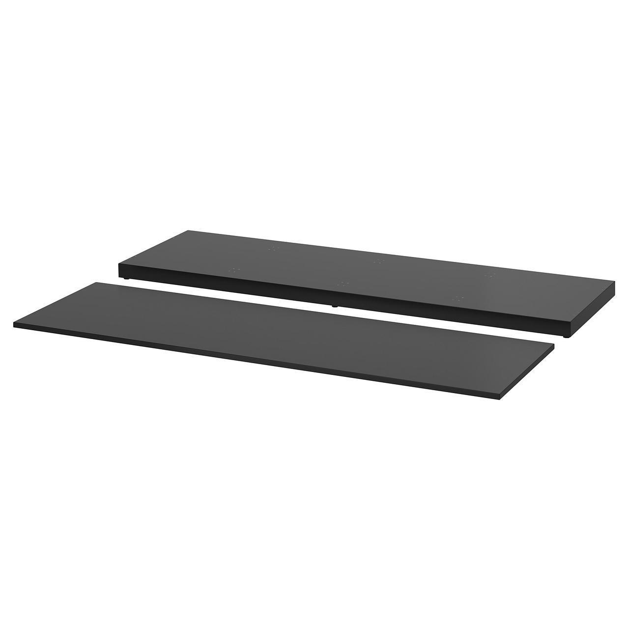 IKEA NORDLI (203.660.03) Верхняя панель и цоколь для модульного комода, антрацит