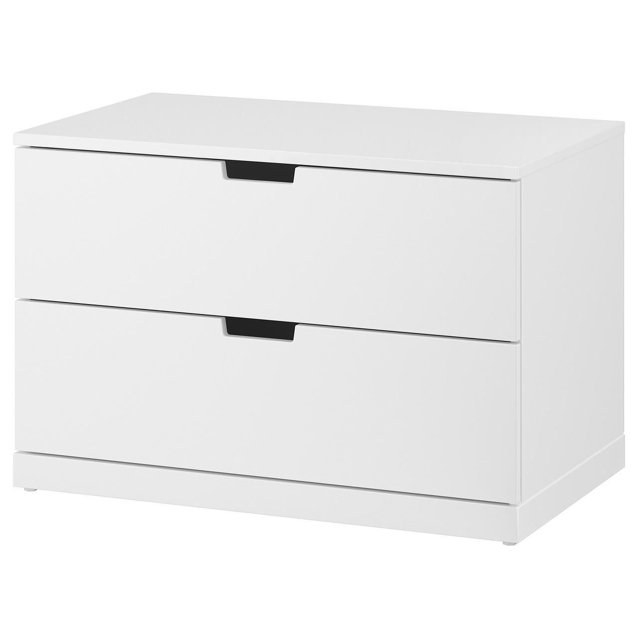 Купить IKEA NORDLI (992.394.94) Комод, 2 ящика, антрацит