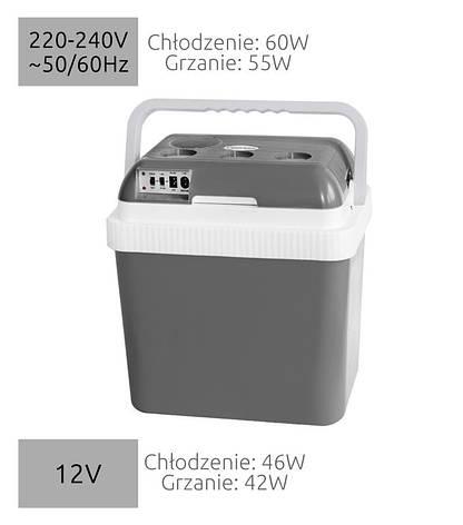 Автомобильный холодильник электрический 24L 12/240, фото 2