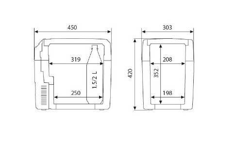 Автомобільний холодильник TROPIC TCX21 12V/24V 230 WAECO, фото 2