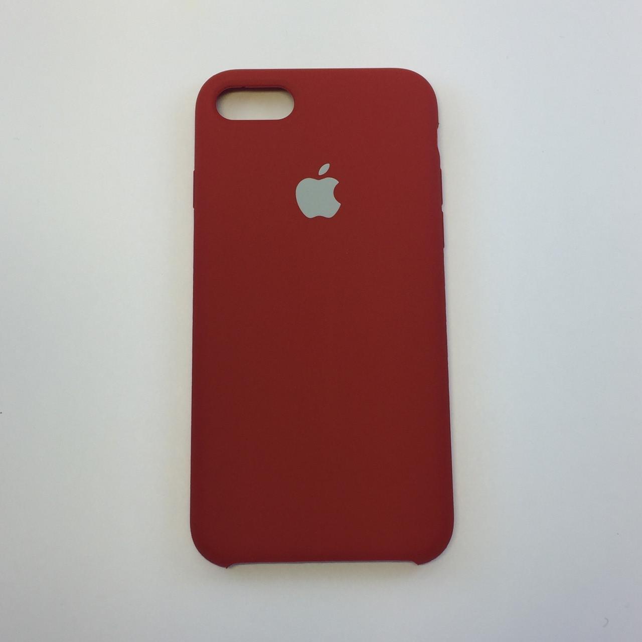 Силиконовый чехол для iPhone 8, цвет RED - copy original