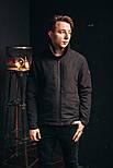 Мужская куртка Стоун черная. Фото в живую, фото 2