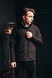 Мужская куртка Стоун черная. Фото в живую, фото 3