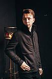 Мужская куртка Стоун черная. Фото в живую, фото 4