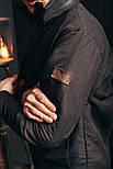 Мужская куртка Стоун черная. Фото в живую, фото 5