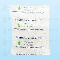 Натуральная мелкокристалическая соль Мертвого моря для ванн (25 кг)