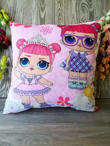 Подушка куклы Лол балерина и школьница , 40см * 40 см, фото 2