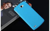Пластиковый чехол для Lenovo S920 голубой
