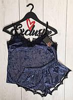 Велюровый пижамный комплект 049, пижамы женские.