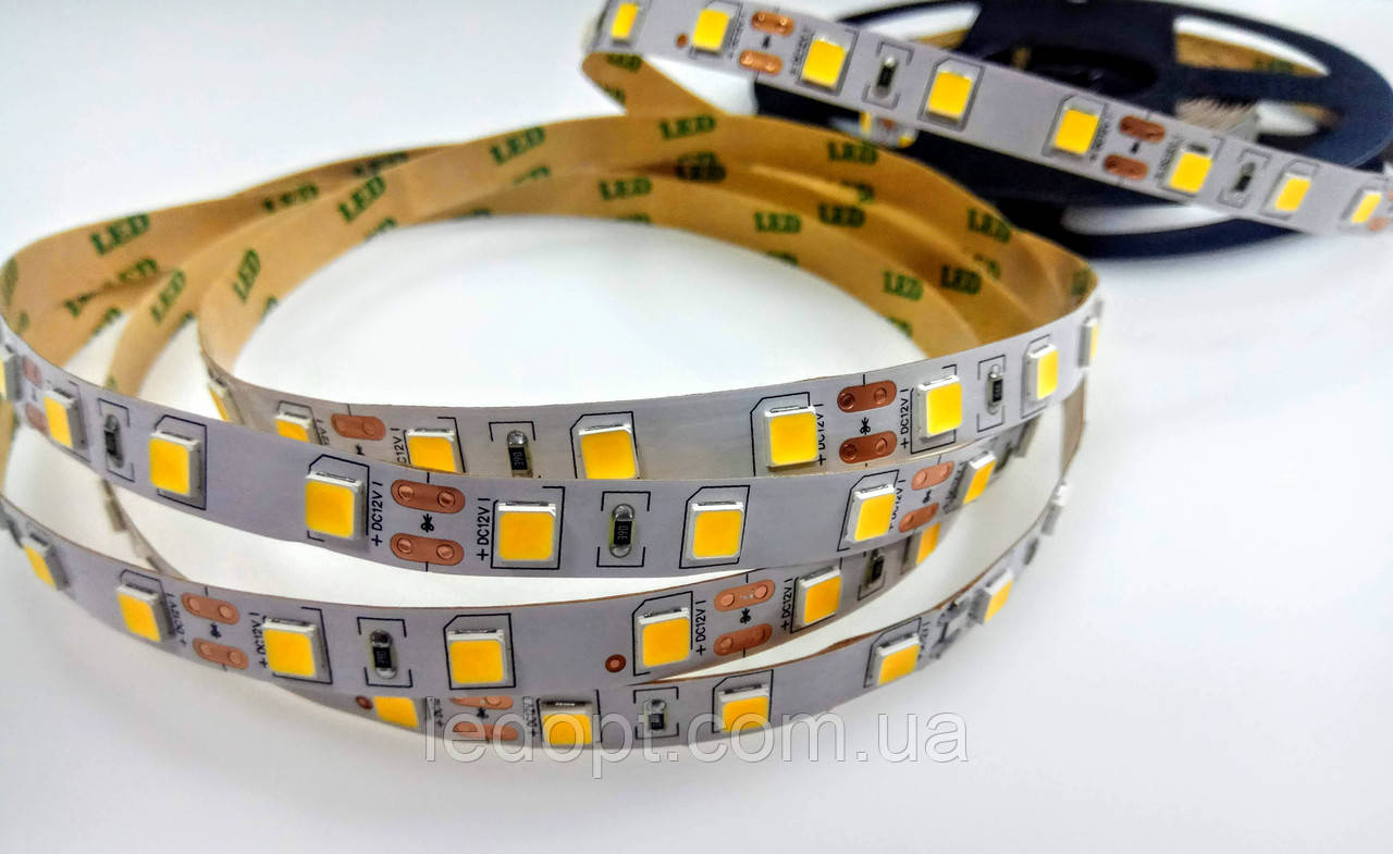 Светодиодная лента SMD5054 14,4W 30 LED/m IP20 теплый Warm White 2700-3000K