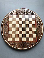 Шахмати різьблені круглі