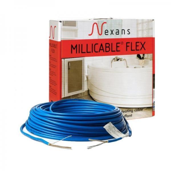 Двожильний гріючий кабель Nexans Millicable Flex/15 10м2 1500W, (двожильний нагрівальний кабель Нексанс)