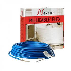 Двожильний нагрівальний кабель Nexans Millicable Flex 15 375W , (двужильный нагревательный кабель Нексанс)