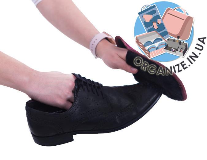 Складна рукавичка для полірування взуття ORGANIZE (винний)