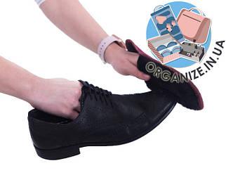 Складная варежка для полировки обуви ORGANIZE (винный)