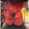Мишка из роз My Teddy маленький красный 25см, фото 2