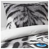 IKEA URSKOG (703.938.53) Комплект постельного белья, тигр, серый