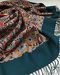 Рождественский пряник 1805-12, павлопосадский платок шерстяной (двуниточная шерсть) с шелковой бахромой, фото 9