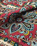 Рождественский пряник 1805-12, павлопосадский платок шерстяной (двуниточная шерсть) с шелковой бахромой, фото 10