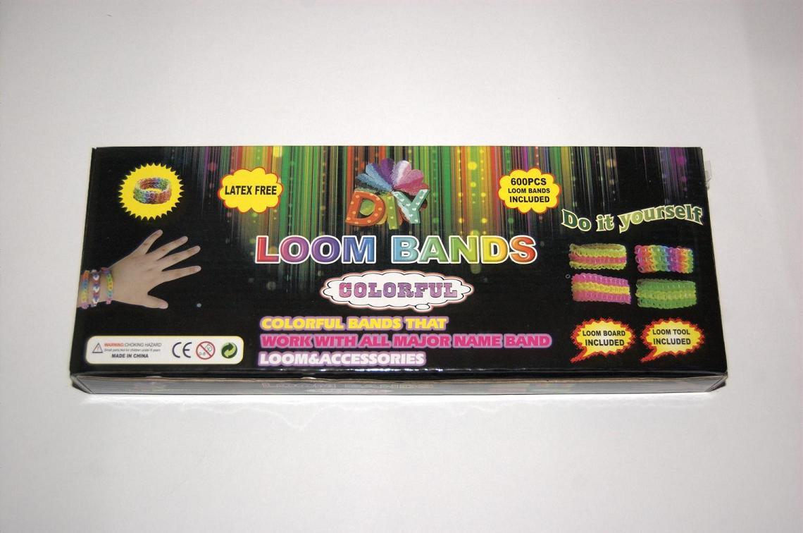 Набор резиночек для плетения Rainbow Loom bands 600шт. со станком (черный)
