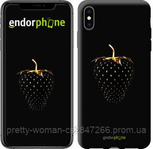"""Чехол на iPhone XS Max Черная клубника """"3585c-1557-19414"""""""