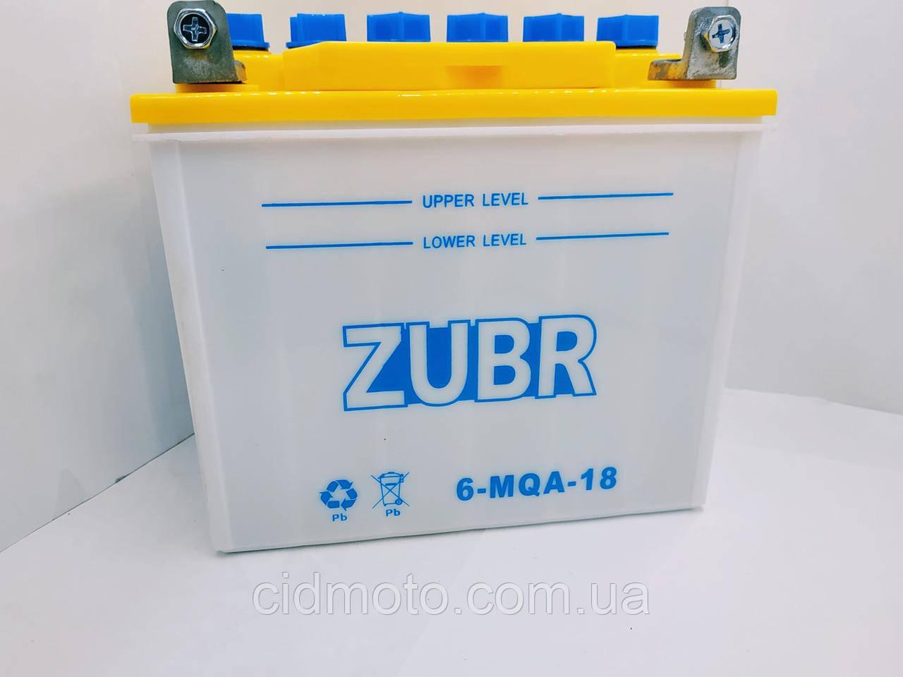 Аккумулятор мото Zubr (12в 18а)