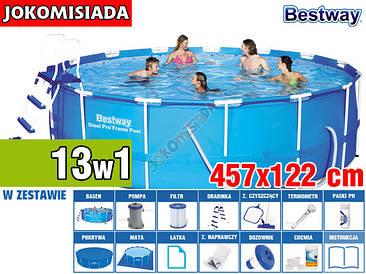 Бассейн каркасный BESTWAY 457x122 см