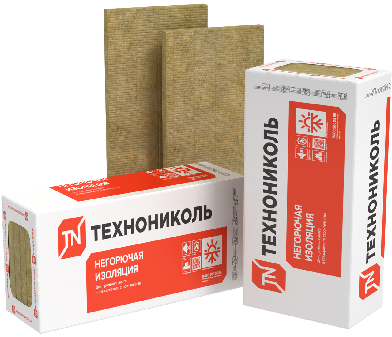 Вата мінеральна Sweetondale Техновент Екстра, 75 кг/куб.м 80 мм