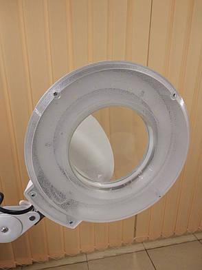 Лампа-лупа напольная, LED (светодиодная) 3D на крестовине, фото 2