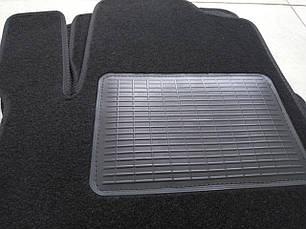 Велюрові килимки Mercedes W164 з логотипом, фото 3