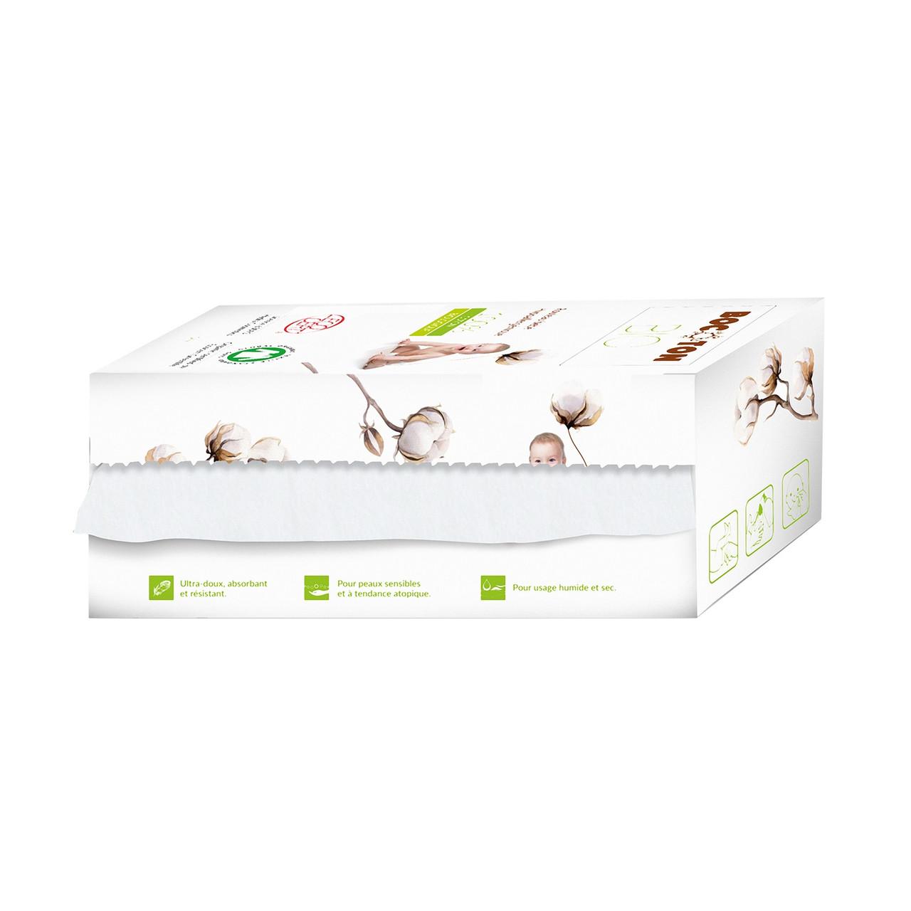 Органічні дитячі серветки в рулоні Bocoton.50 шт