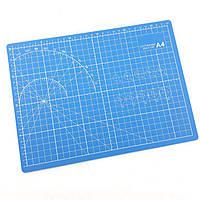 Коврик для резки размер А4 (синий, черная основа)