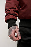 Куртка-бомбер чоловічий EAST бордо. Живе фото (весняна куртка), фото 3
