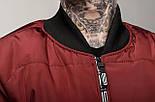 Куртка-бомбер чоловічий EAST бордо. Живе фото (весняна куртка), фото 6