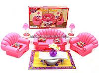 Детская игрушечная мебель Глория Gloria для кукол Барби Гостиная 22004. Обустройте кукольный домик