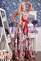 Женское шелковое платье в пол