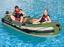 Лодка 65001 BESTWAY с веслами , нагрузка 260кг