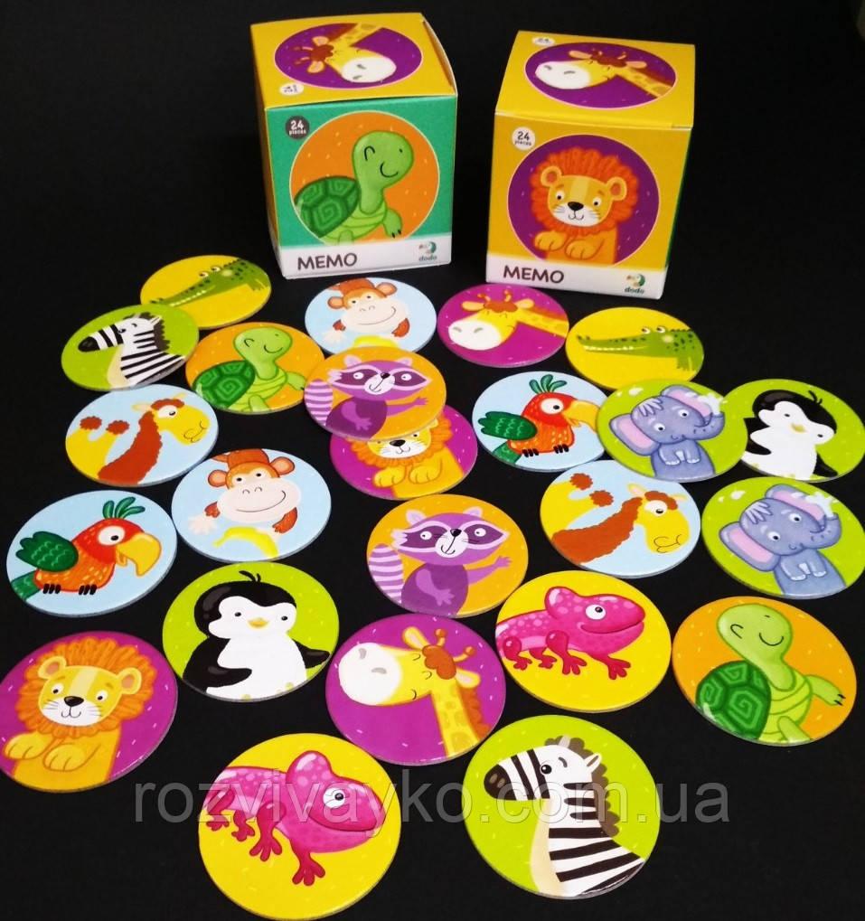 Настольная игра Мемо Дикие животные (Тварини) Додо / Dodo