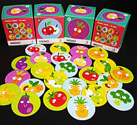 Настольная игра Мемо Фрукты и овощи (Фрукти та овочі) Додо / Dodo